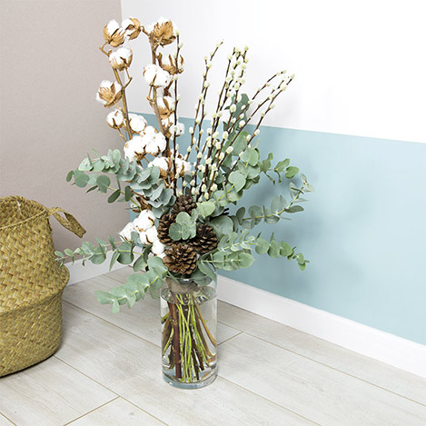 Collection Hiver> -SWEET COTON ET SON VASE -